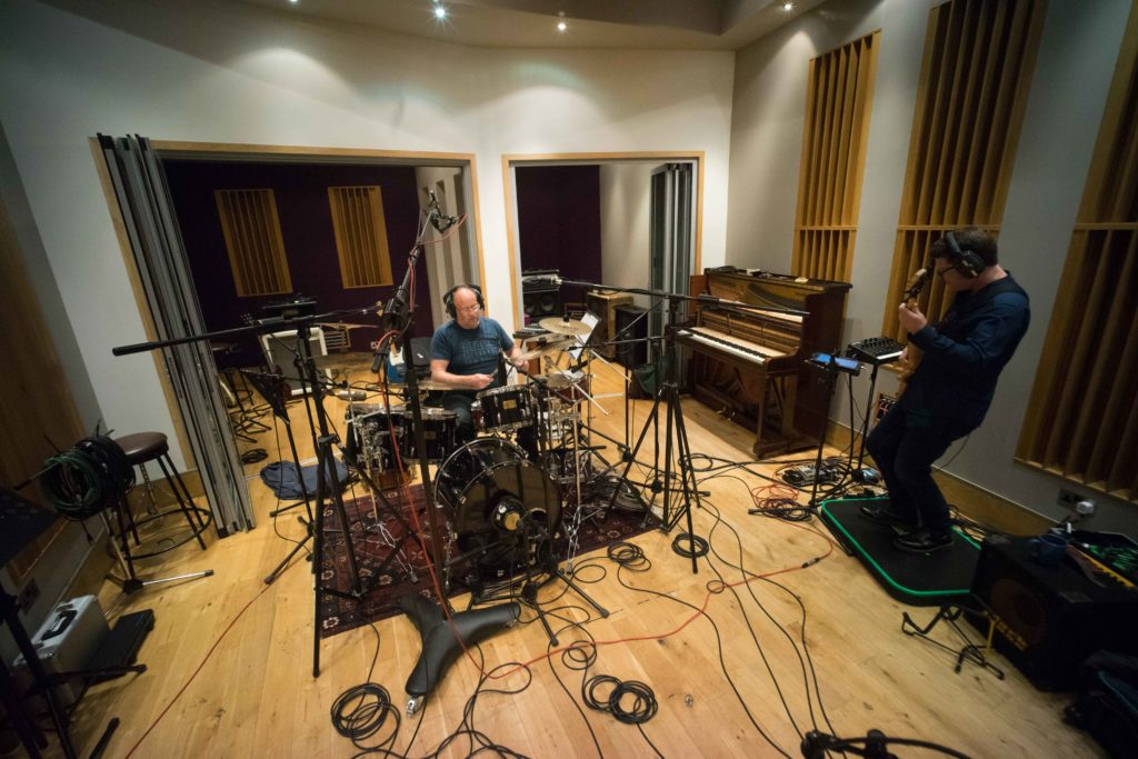 Chas Maguire and Brian Greene recording Space Elevator II - London 2017
